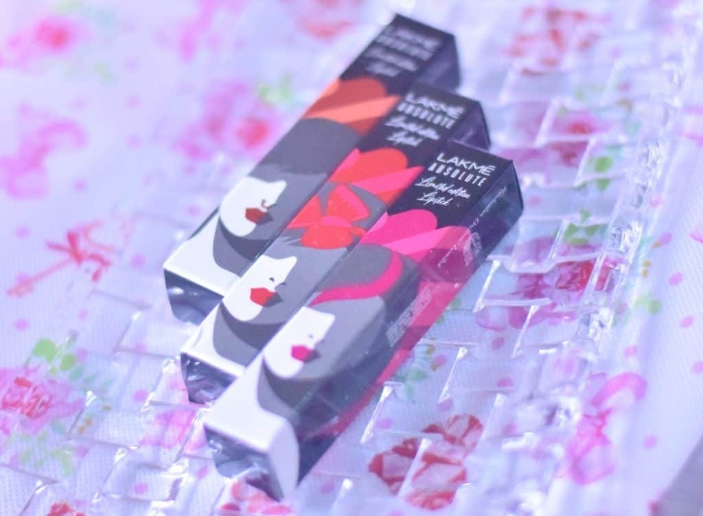 LAKME ABSOLUTE LIMITED EDITION MATTE LIPSTICK REVIEW & SWATCHES